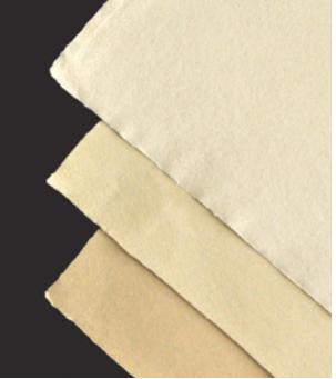 Handgeschöpfte Velinpapiere