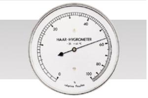 Echthaar-Hygrometer