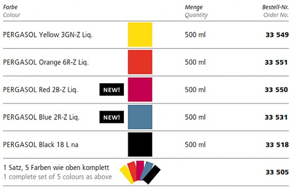 Paper Colours PERGASOL from BASF