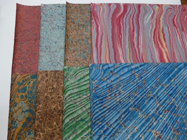 marbled paper 8 sheets