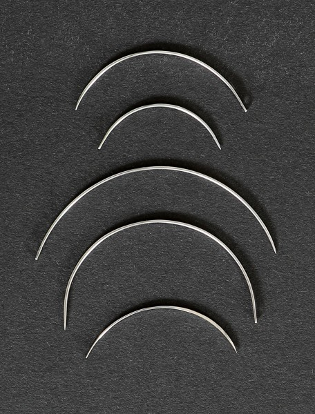 Curved needles, diameter 31mm, pack of 12