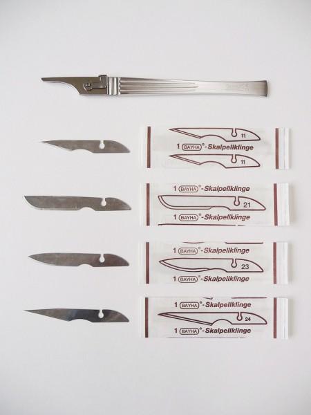Lames pour scalpels taille 11, BAYHA, 12 pièces