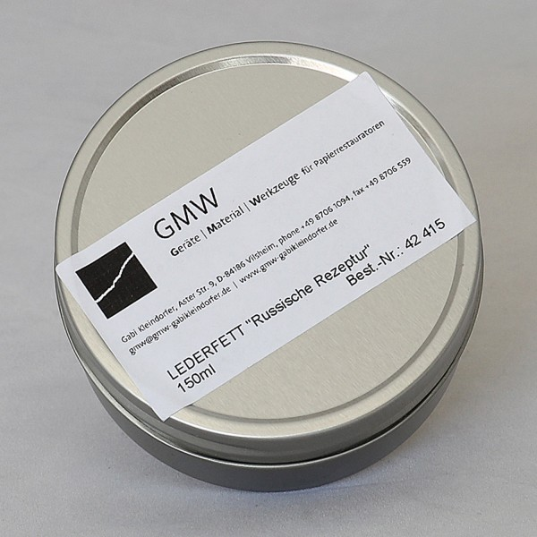 Leather Dressing, 150 ml tin